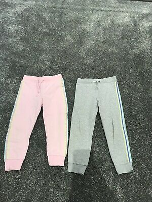 Tesco F&F 2 Pairs Girls Joggers Age 3-4