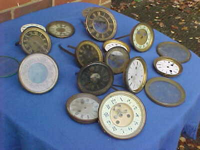 Job Lot Vintage Clock Dials Bezels