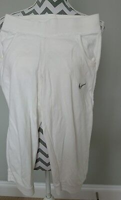 Nike Cropped White Sport Trousers For 12-13 Years Girls