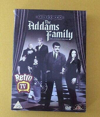 The Addams Family 3 Disc [DVD] [1965] Season 2 New And Sealed