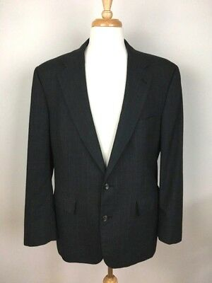 Brooks Brothers Suit Jacket Size 43R Wool Blazer Charcoal Gray Pinstriped USA