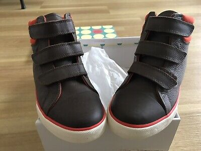 Boys Boden Hightop Leather Boots Size 35