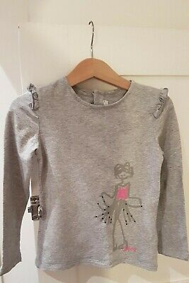 DKNY Girls Top Grey Jersey Long Sleeved age 5