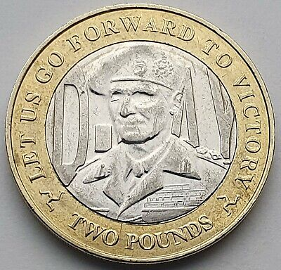 2019 Isle of Man D-Day Montgomery £2 coin - Circulated