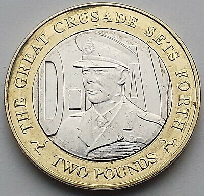 2019 Isle of Man D-Day King George VI £2 coin - Circulated