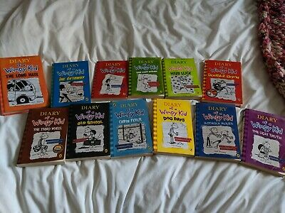 Diary of a Wimpy Kid Collection 12 Books by Jeff Kinney (Paperback, 2016)