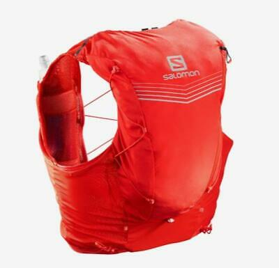 New Salomon Advanced Skin 12 Running Set Hiking Water Hydration Vest Red Small