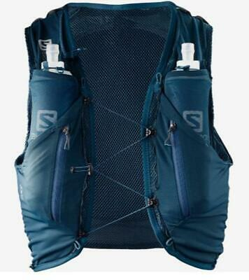 New Salomon Advanced Skin 12 Running Set Hiking Pack 12L Blue Extra Small Vest