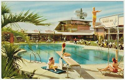 WILBUR CLARKS DESERT INN casino~Pool side casino View~ Las Vegas post card #B 94