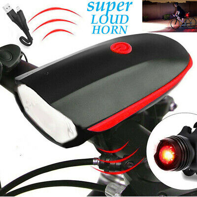 Rechargeable LED Bicycle Tail Light Rear Bike Headlight Cycling Strobe Warning