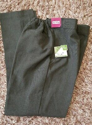 TU Girls Grey School Uniform Trousers Age 12 Years Adjustable Waist BNWT