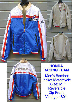 HONDA Racing Team Giubbotto reversibile VINTAGE Men's Bomber Jacket Motorcycle