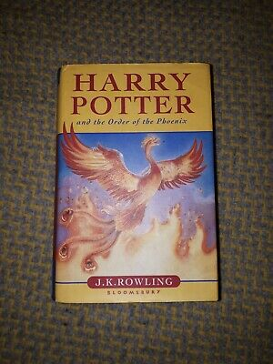 Harry Potter And The Order Of The Phoenix Bloomsbury First Hardback Book