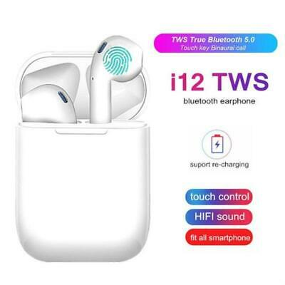 i12 TWS Wireless Bluetooth 5.0 Earbuds Headphones Earphones For iphone Android
