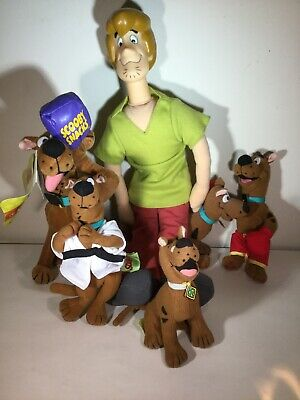 "Scooby Doo 18"" Shaggy Plush Toy Lot Of 6 Figures"