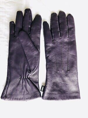 Purple Leather Gloves Ospery Ladies Size Small