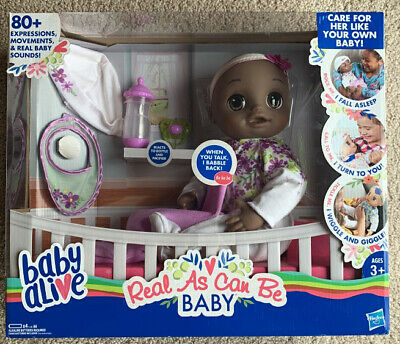 Baby Alive Real As Can Be Baby African American New In Box