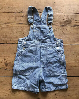 H&M Stripe Dungarees Overalls Boys Girls 18-24 Months 1.5-2 Years Old