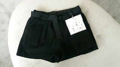 Bnwt fab NEXT girl's black shorts and tights set - age 11 years