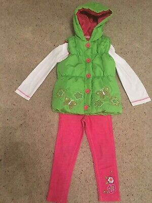 Girls Top Leggings And Gilet Set Age 3 Years