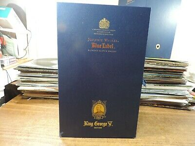 Johnnie Walker Blue Label George V Collectible Decanter with Stopper Stand Box