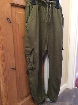 Girls Green Baggy Trousers From Next 11yrs