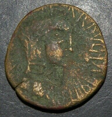 Ancient Greek Roman Coin BC450-100AD Antique Large Bronze Rare Counterstamped