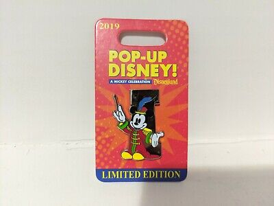 """Letter """"I"""" Mickey Mouse Pop-Up Disney! 2019 Parks Exclusive Limited Edition Pin"""