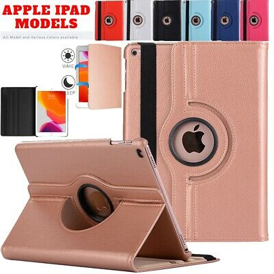 360 Rotation Leather Stand Case Cover For Apple iPad 2 3 4 Mini Air 2017 2018
