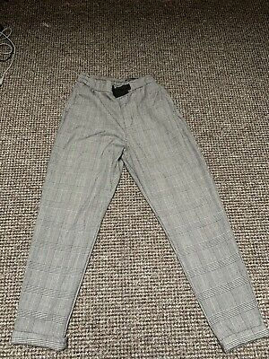 Girls Checked Trousers Size 10 To 11 Years