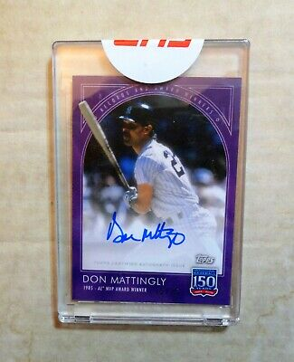 2019 Topps 150 Years, Don Mattingly Autographed Card,  #34C, Numbered 15/25