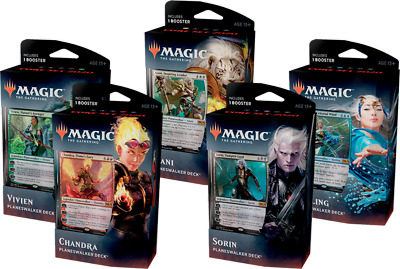 Magic The Gathering - Core Set 2020 - Set of 5 Planeswalker Decks MTG * NEW *