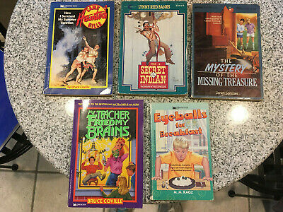 Lot of 5 chapter books for boys grades 4-8 Coville, Ragz, Banks Lorimer Minstrel