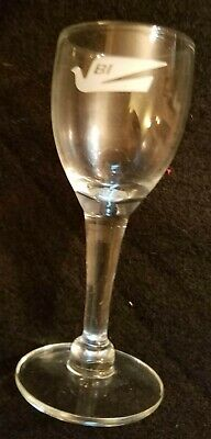 Braniff Airways small 3.75 inch aperitif stem glass Ex condition
