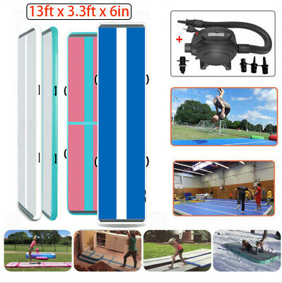 13FT Airtrack Inflatable Air Track Home Gymnastics Tumbling Mat GYM + Pump
