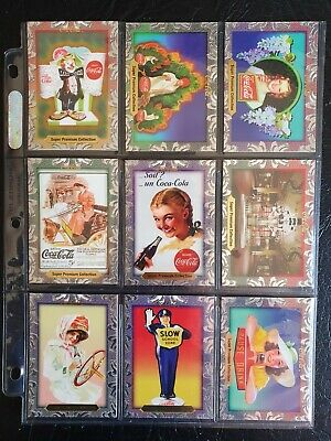 LoT OF 18 'SUPER PREMIUM COLLECTION' 1995 COCA COLA COLLECTOR CARDS - NEAR MINT!