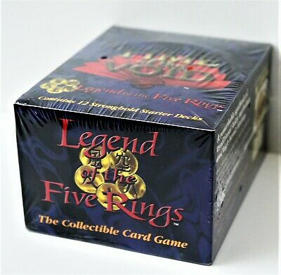 Legend of the Five Rings Stronghold Edition sealed box-12 starter decks yr.1997