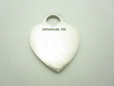 Tiffany & Co. Sterling Silver Classic Heart Tag Charm Pendant