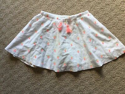 Girls Size 7 Seed 100% Cotton Skirt with Cute Pineapple Print🍍 EUC
