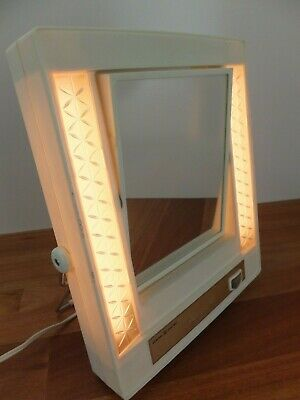 Vintage GE General Electric Lighted MAKE-UP MIRROR Vanity With Lights Australia