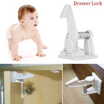 Invisible Cupboard Drawer Lock Locks For Kids Closet Locker Secure Catches