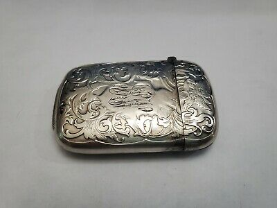 Sterling Silver Large Match Box Case Holder