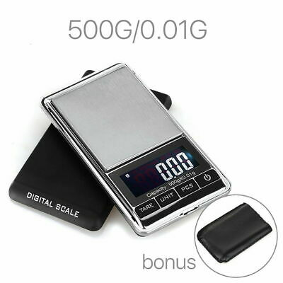 NEW 500g 0.01 DIGITAL POCKET SCALES JEWELLERY ELECTRONIC milligram micro mg SU