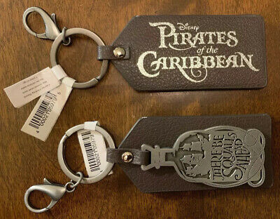 Disney Parks Pirates of the Caribbean There Be Squalls Ahead Keychain NEW