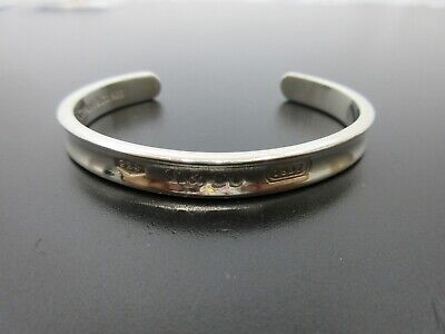 Authentic Tiffany & Co. 1837 Bangle Sterling Silver 925 Good 78098