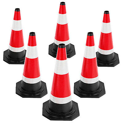 "PACK OF 6 Road Traffic cones 18"" (450mm) Self weighted Safety Cone"