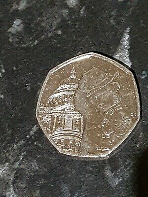 2019 Circulated Paddington Bear At St Pauls Cathedral 50P Coin Rare Collectors