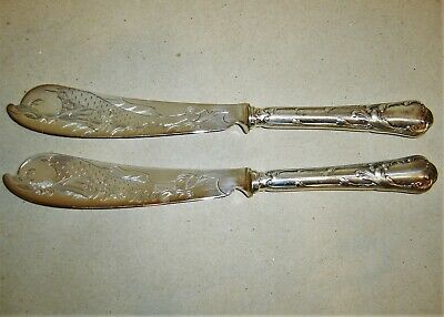 Pair of beautiful antique silver plated Christofle knife