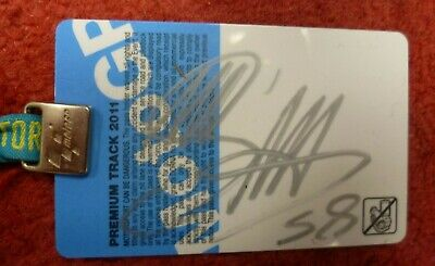 Marco Simoncelli Hand Signed & Certified Malaysian Motogp Paddock Pass Oct 2011