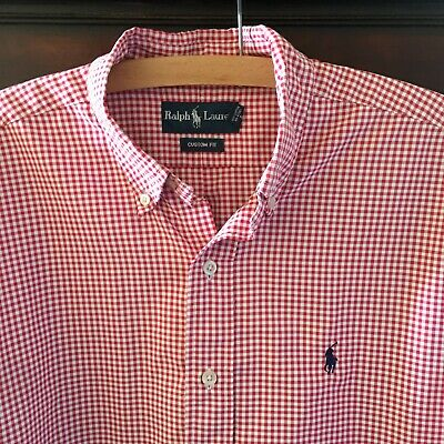 Mens Ralph Lauren Long Sleeve Polo Shirt Size Xl Great Condition Custom Fit